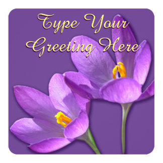 Easter Crocus Invitations Easter Cards Personalize