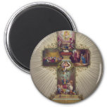 Easter Cross 2 Inch Round Magnet