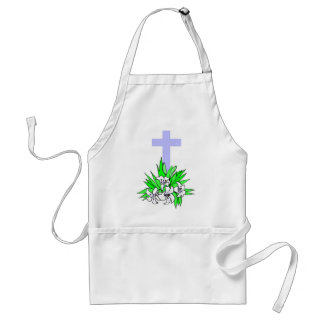 Easter cross and lilies aprons