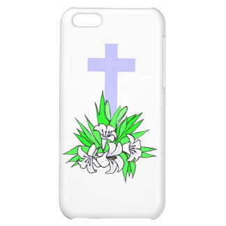 Easter cross and lilies cover for iPhone 5C