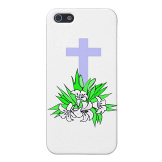 Easter cross and lilies covers for iPhone 5