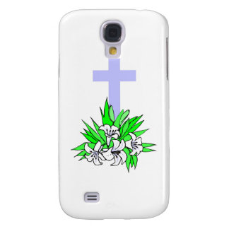 Easter cross and lilies galaxy s4 case