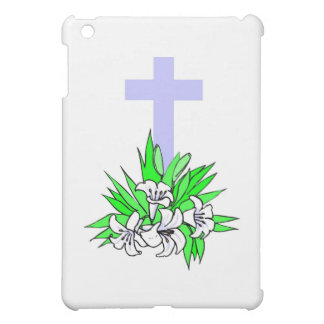 Easter cross and lilies iPad mini cases