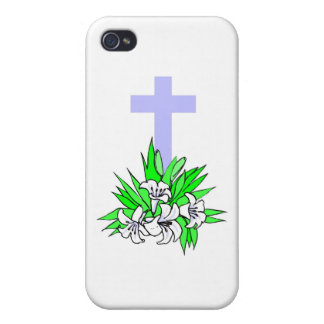 Easter cross and lilies iPhone 4/4S cover
