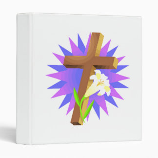 easter cross and lily design binder