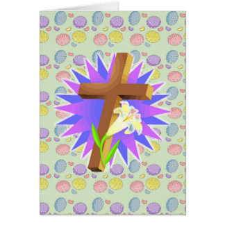 easter cross and lily design card