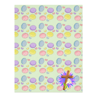 easter cross and lily design letterhead