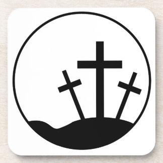 Easter Cross Beverage Coaster