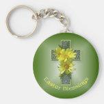Easter Cross Blessings Key Chain