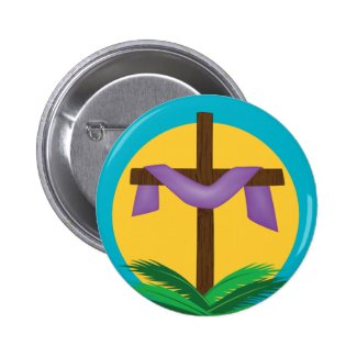 Easter Cross Button