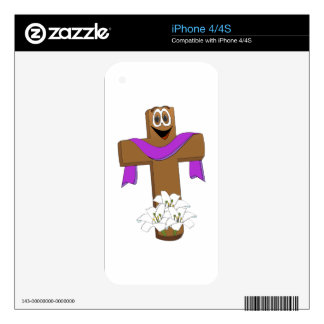 Easter Cross Cartoon Decal For The iPhone 4S