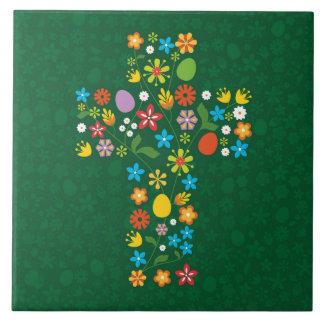 Easter Cross Ceramic Tile