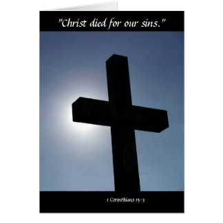 Easter Cross Christ Died For Our Sins Card