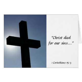 Easter Cross Christ Died For Our Sins I Card