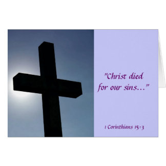 Easter Cross Christ Died For Our Sins II Card