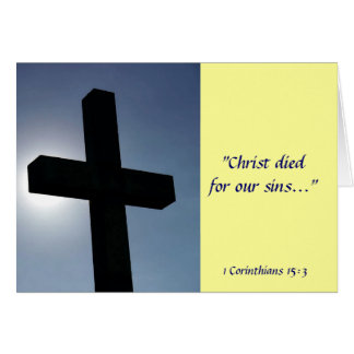 Easter Cross Christ Died For Our Sins III Card