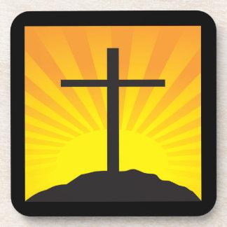 Easter Cross Drink Coaster