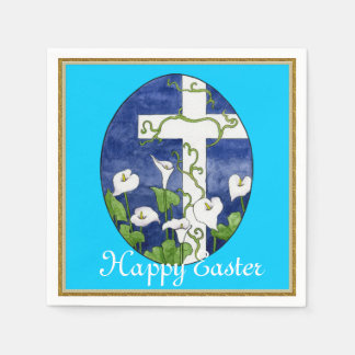Easter Cross Holiday paper napkins