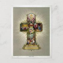 Easter Cross Holiday Postcard