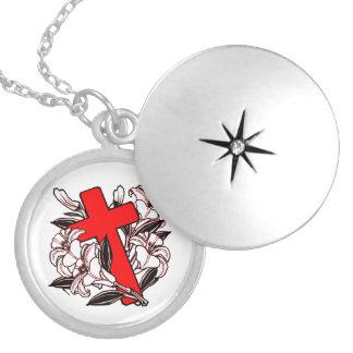 Easter Cross Locket Necklace
