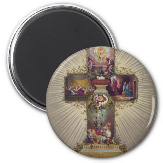 Easter Cross Magnet