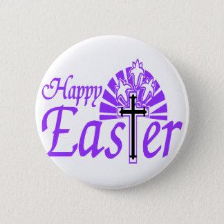 Easter Cross Pinback Button