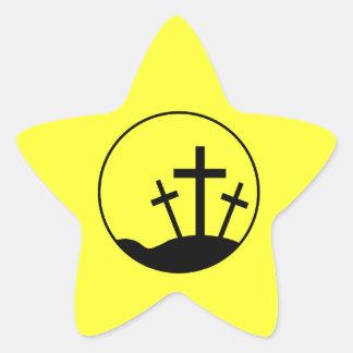 Easter Cross Star Sticker