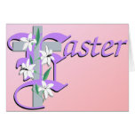 Easter Cross with Lilly Card