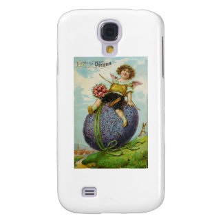 Easter Cupid on Purple Egg Post Card Samsung Galaxy S4 Case