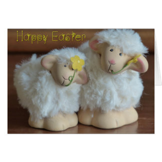 Easter - Cute Pair of Sheep - All 3 Sizes Greeting Card