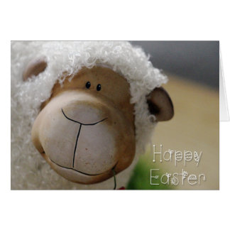 "Easter - Cute Sheep ""Happy Easter"" All Sizes Greeting Card"
