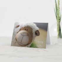 "Easter - Cute Sheep ""Happy Easter"" All Sizes Holiday Card"