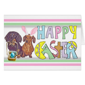 Easter Dachshund Card