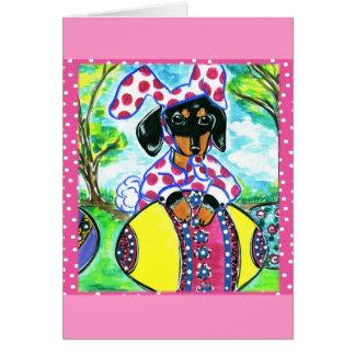 Easter Dachshund Card
