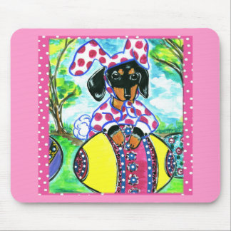 Easter Dachshund Mouse Mats