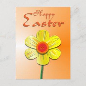Easter Daffodil postcard