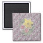 Easter Daffodil Tulips Fridge Magnets