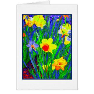 'Easter Daffodils' Greeting Card