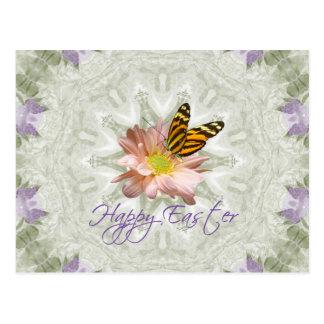 Easter Daisy Mum Butterfly Postcard