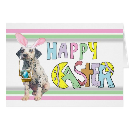 Easter Dalmatian Puppy Cards