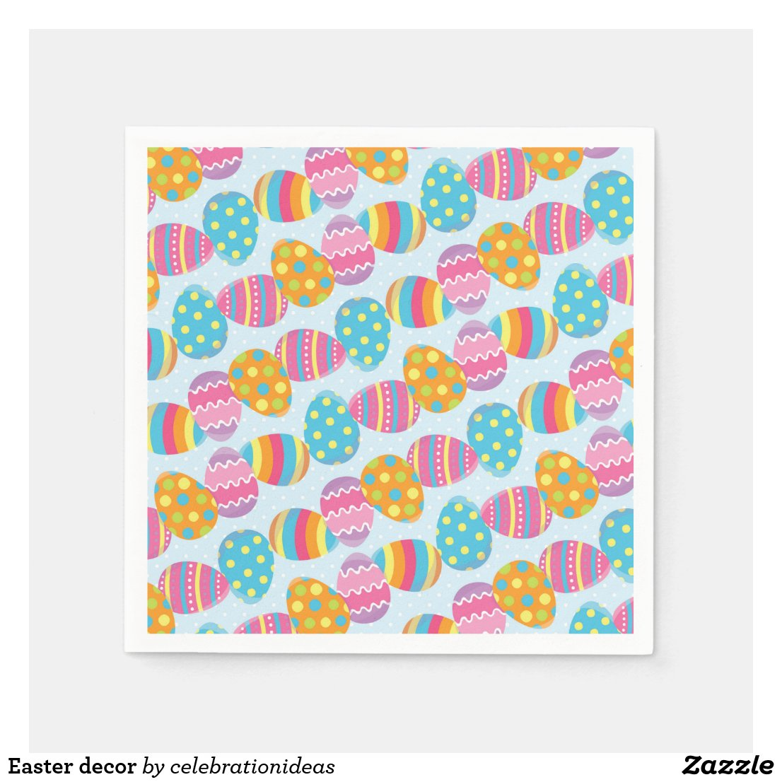 Easter decor napkin