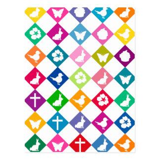 Easter diamonds postcard