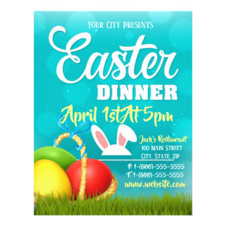 Easter Dinner Event Flyer