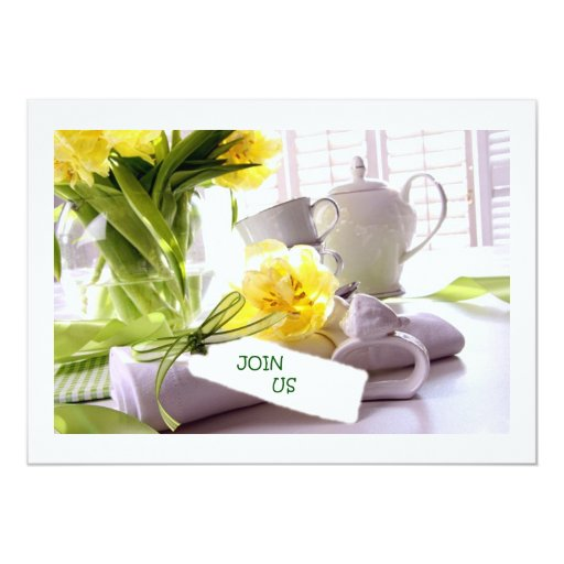 """EASTER DINNER INVITATION (ANY OCCASION!) 5"""" X 7"""" INVITATION CARD"""