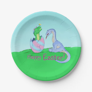 Easter Dinos Paper Plate