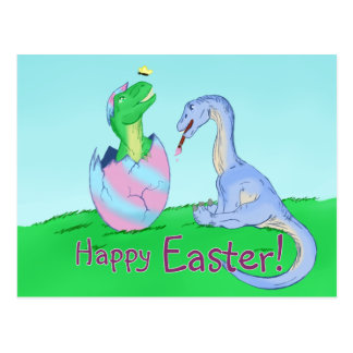 Easter Dinos Postcard