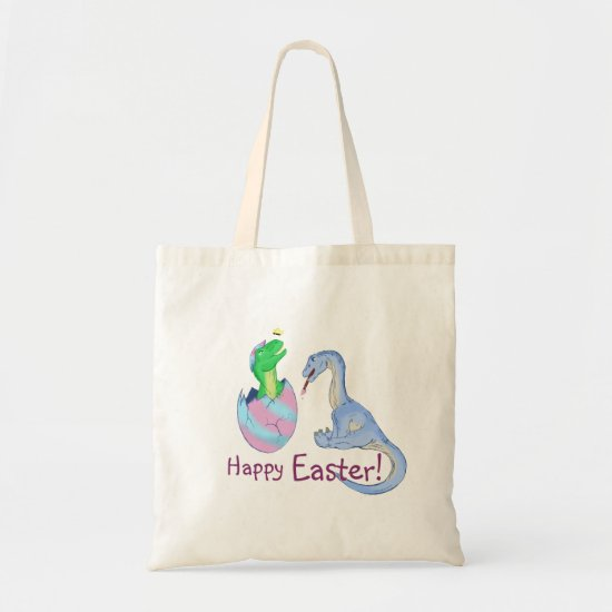 Easter Dinos Tote Bag