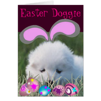 Easter Doggie Greeting Card