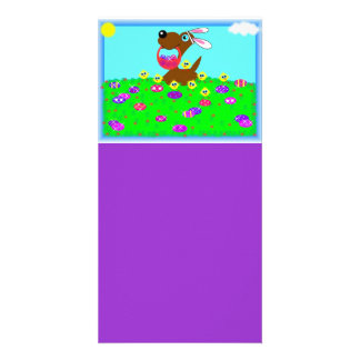 Easter Doggy Designed Book Mark Picture Card