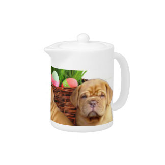 Easter Dogue de Bordeaux pups Teapot